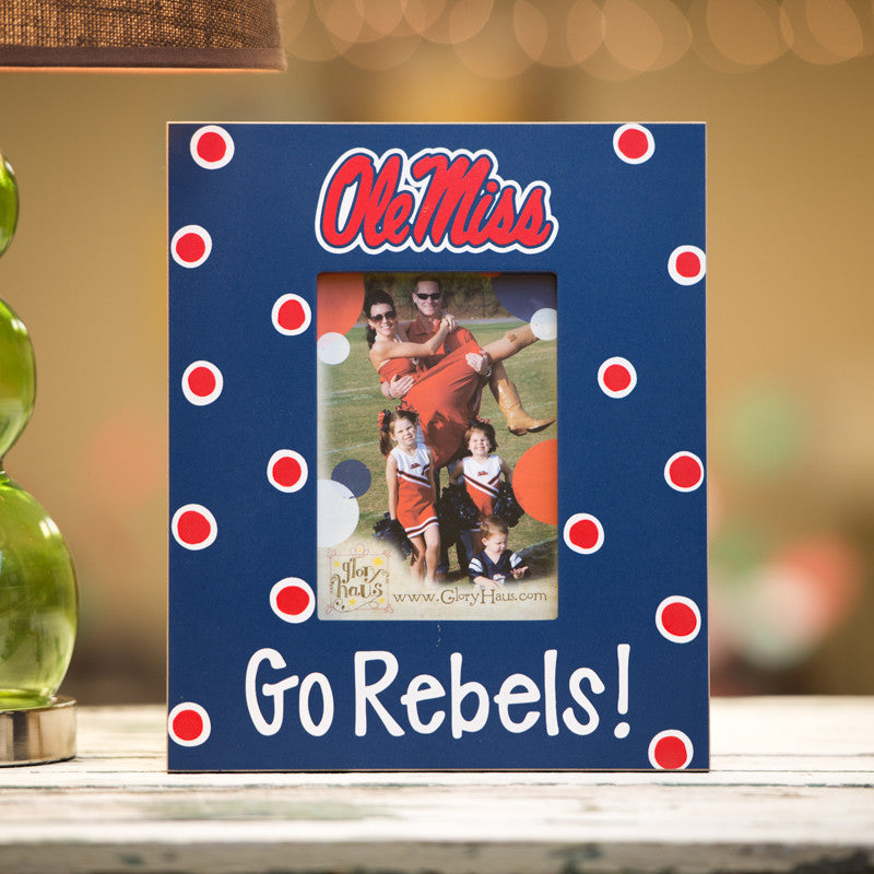 Ole Miss Logo Frame by Glory Haus