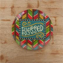 Blessed Melamine Plates, Set of 4