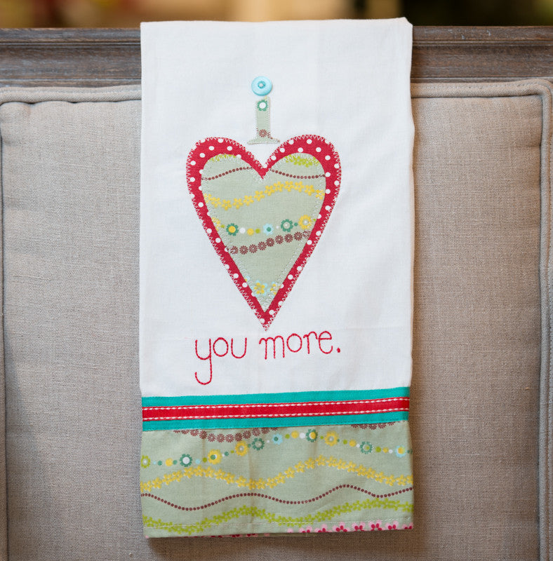 I Love You More Tea Towel by Glory Haus