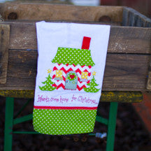 Hearts Come Home for Christmas Tea Towel