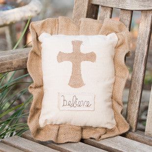 Believe Cross Pillow by Glory Haus