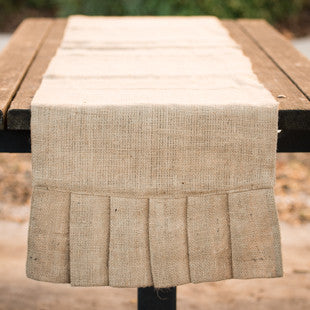 Burlap Ruffle Table Runner by Glory Haus