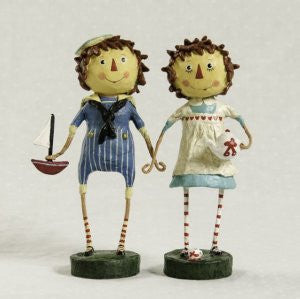 Lori Mitchell Folk Art Raggedy Andy