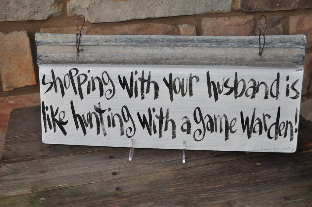 Blackwater Folk Art Shopping With Your Husband Sign