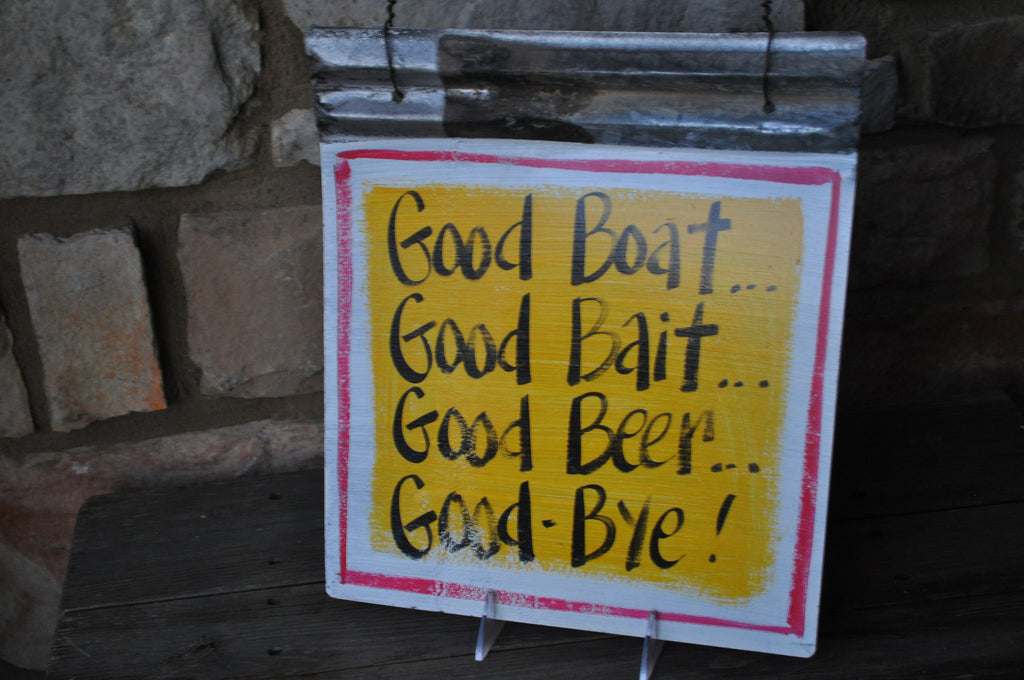 Blackwater Folk Art Good Boat Sign