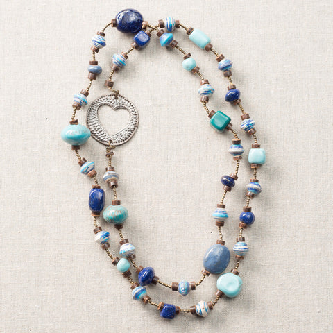 Blue Cobalt Long Necklace with