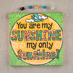 You Are My Sunshine Beaded Canvas by Glory Haus
