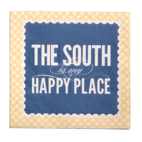 The South Is My Happy Place Cocktail Napkins