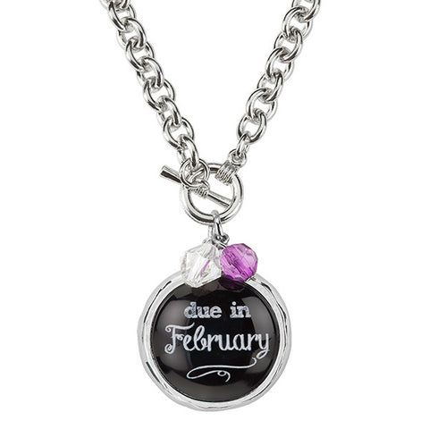 Due In February Necklace