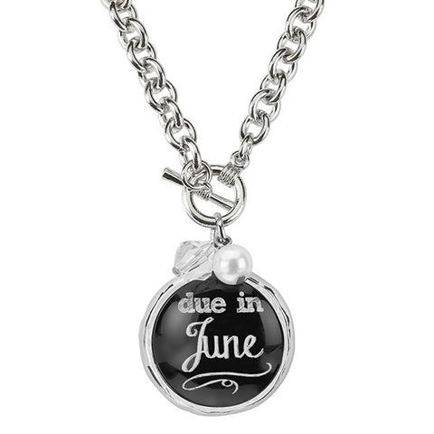 Due In June Necklace