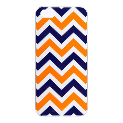 Navy/Orange iPhone 5 Case