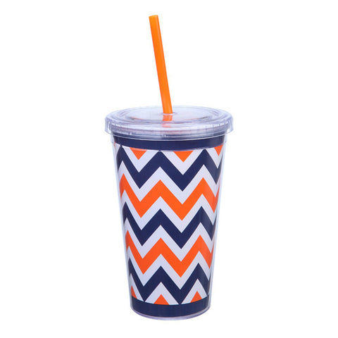 Auburn Orange/Navy Sipper Cup