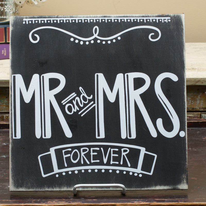 Mr. & Mrs. Forever Sign by Simply Southern Signs