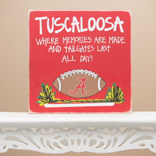 Alabama Tailgate Sign