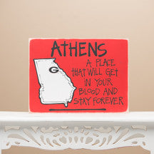 Athens Map Sign