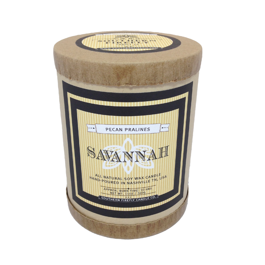 Savannah - Pecan Praline Scented Soy Candle
