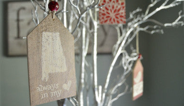 Alabama Gift Tag Ornament