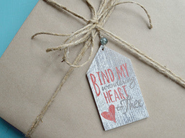 Bind My Heart Gift Tag Ornament
