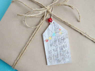 Lift Up My Eyes Gift Tag Ornament