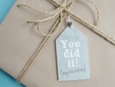 You Did It Gift Tag Ornament