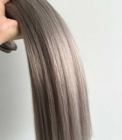 Straight Silver Brazilian Human Hair Bundles - Luckin Wigs