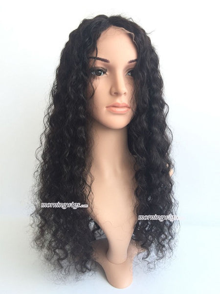 8mm Curly lace wigs 22 inches lace wig 150% density - Luckin Wigs