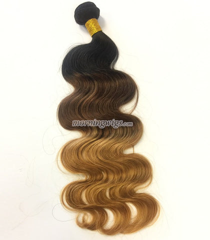 1b 4 27 body wave  Chinese human hair wefts - Luckin Wigs
