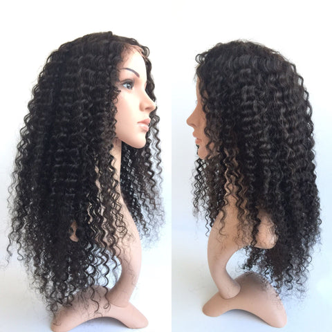 Kinky Curly wigs Brizilian Virgin Human Hair lace Wigs for women - Luckin Wigs