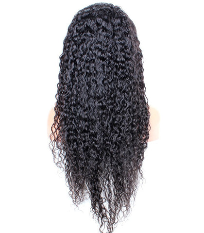 22 inch curly black human remy hair wigs - Luckin Wigs