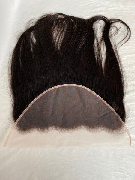 "13x6 HD Lace Frontal 20"" Straight Natural Black Color Pre-plucked Hairline Swiss Lace Frontal - Luckin Wigs"