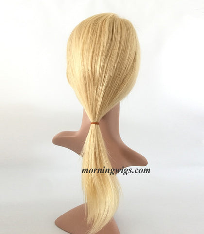 20 inch straight light blond glueless full lace human hair wigs - Luckin Wigs
