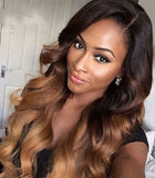 Top fashion 4 ombre 27 human remy hair glueless fake scalp lace wigs - Luckin Wigs