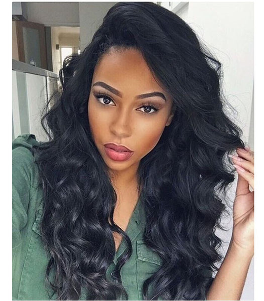 "20"" water wave human remy hair lace wigs 150% density - Luckin Wigs"