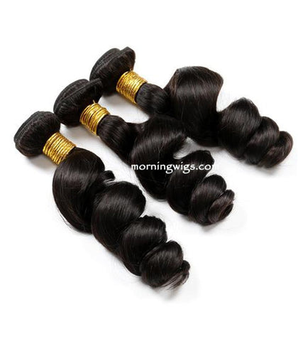 14 inches black spiral wave human hair extensions - Luckin Wigs