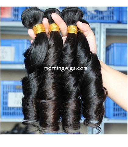 20 inches black spring curly human hair bundles - Luckin Wigs