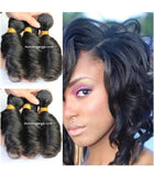 14 inches black spiral wave 100% human hair extensions - Luckin Wigs