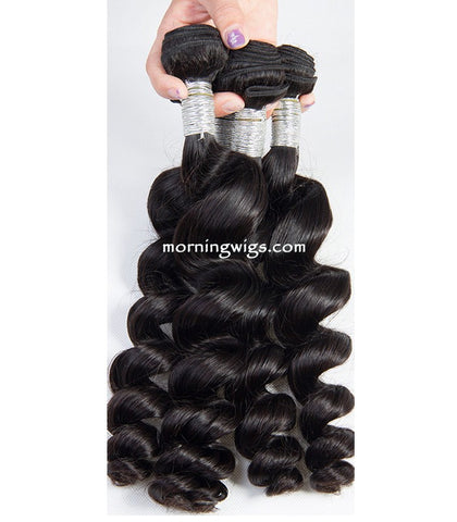 16 inches black spiral 100% human hair extensions - Luckin Wigs