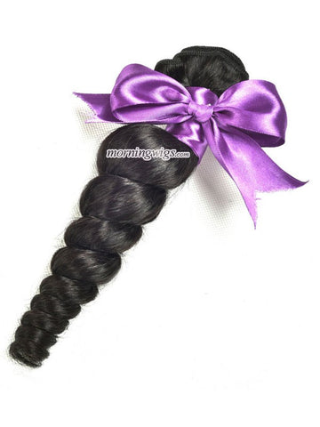 20 inches Loose Wave Natural Black Hair Bundles - Luckin Wigs