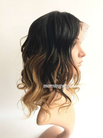 Fashion body wave 1b-4-27 ombre color lace wig - Luckin Wigs