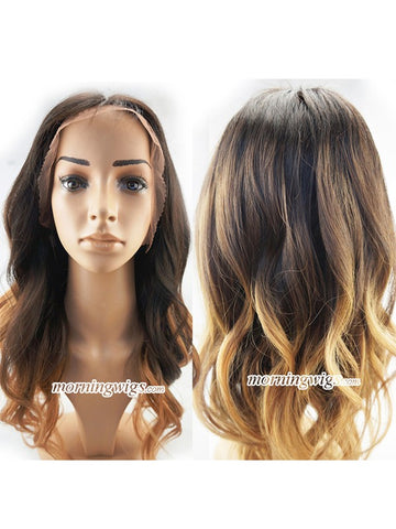 16 inches 1b-27 ombre color body wave lace wig - Luckin Wigs