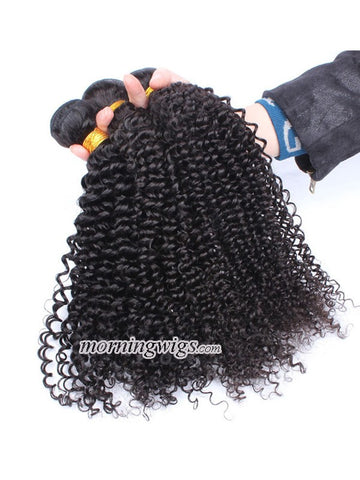 20 inches kinky curly Natural Black human hair bundles 100g/pc - Luckin Wigs