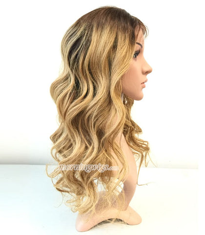 20 inches 4-27 ombre color Brazilian Human Hair body wave lace wig - Luckin Wigs
