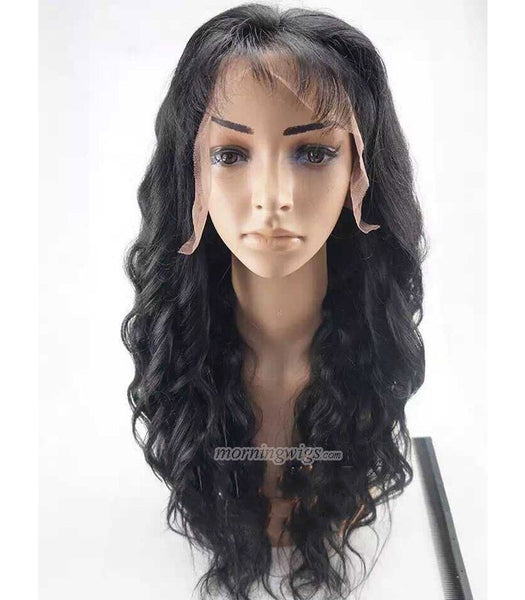 20 inches black loose wave brazilian hair lace wig - Luckin Wigs
