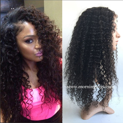 100% Brizilian Virgin Human Hair Curly Wigs HD Full Lace Wigs - Luckin Wigs