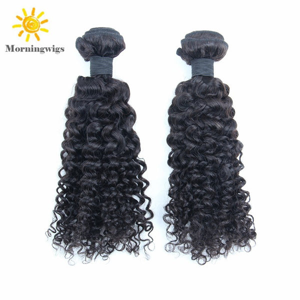 kinky curly human hair bundles, black hair extensions - Luckin Wigs