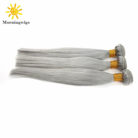 Fashion gray color 100%  human hair material hair extensions - Luckin Wigs