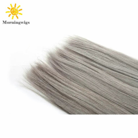 Black ombre gray color 100%  human hair material hair extensions - Luckin Wigs