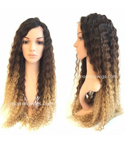 Kinky curly 1B-4-27 ombre fashion full lace wig - Luckin Wigs