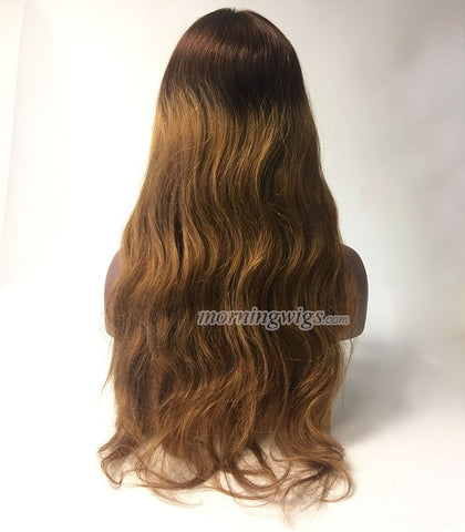 Top fashion 4 ombre 27 human remy hair glueless full lace wigs - Luckin Wigs