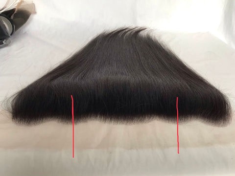 "13x4 HD Lace Frontal Natural Black Brazilian Human Hair 12"" - Luckin Wigs"